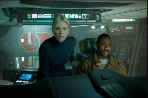 PROM-004 - Charlize Theron and Idris Elba on the bridge of the ship Prometheus.