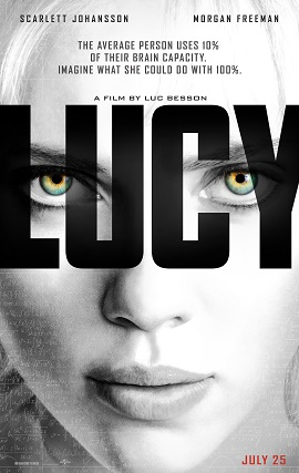 the new movie poster for Lucy