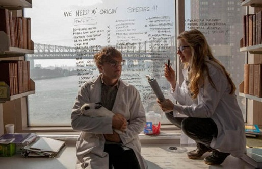 Britt Marling and Michael Pitt in I Origins