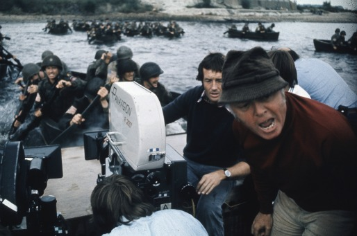 "Richard Attenborough directing a scene from ""A Bridge Too Far."""
