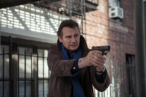 """Liam Neeson stars in """"A Walk Among the Tombstones"""" (2014)."""