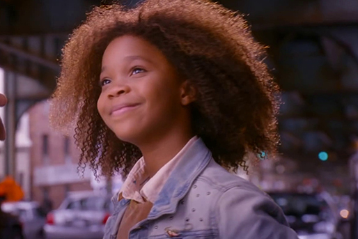 "Academy Award nominee Quvenzhané Wallis is Annie in 2014's ""Annie,"" a Sony Pictures release."
