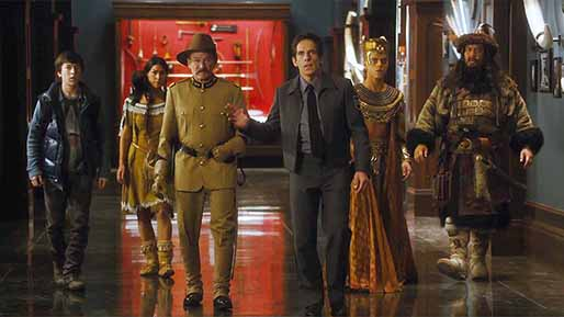"Ben Stiller and Robin Williams star in ""Night at the Museum: Secret of the Tomb"" (2014)."