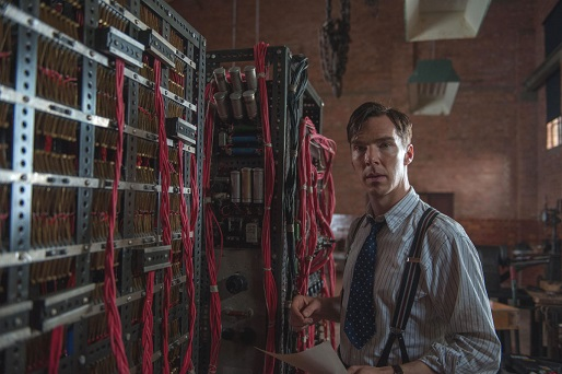 "Benedict Cumberbatch in the new movie ""THhe Imitation Game"""