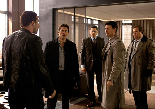 "From left, Matthias Schoenaerts, James Marsden, Wentworth MIller, Karl Urban and Eric Stonestreet star in ""The Loft,"" a 2015 release from Open Road Films and director Erik Van Looy."