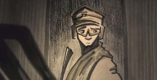 """Confusion Through Sand"" (2014), and animated short by Danny Madden."