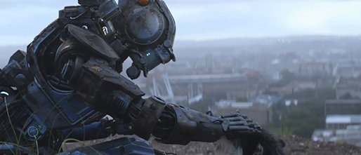 "Sharlto Copley provides the motion-capture performance and voice of the robotic title character in ""Chappie,"" a 2015 Columbia Pictures release directed by Neill Blomkamp."