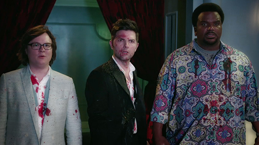 "Clark Duke, Adam Scott and Craig Robinson star in ""Hot Tub Time Machine 2,"" a 2015 Paramount Pictures release directed by Steve Pink."