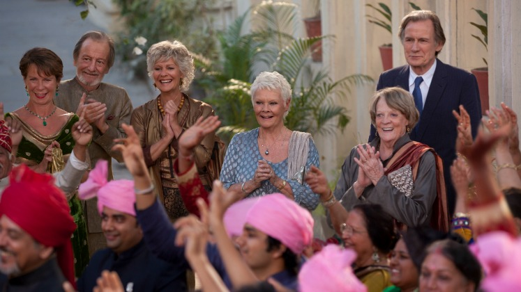 Second Best Exotic Marigold Hotel Smith Nighy Dench