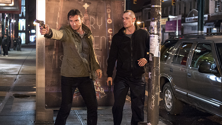 "Liam Neeson and Joel Kinnaman play a father and son trying to survive a mobster's wrath in ""Run All Night,"" a 2015 Warner Brothers release."