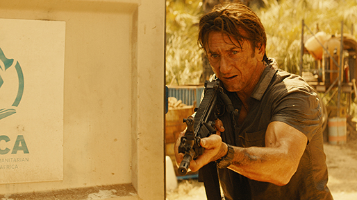 "Sean Penn stars in ""The Gunman,"" a 2015 action-thriller directed by Pierre Morel (""Taken"") and released by Open Road Films."