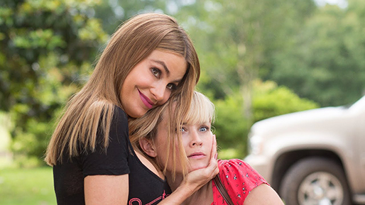"""Sofia Vergara and Reese Witherspoon star in """"Hot Pursuit,"""" a 2015 buddy action-comedy directed by Anne Fletcher and distributed by Warner Brothers."""