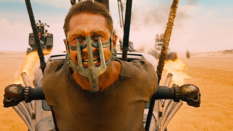 "Tom Hardy stars as Mad Max Rockatansky in ""Mad Max: Fury Road,"" a 2015 Warner Brothers film and director George Miller's long-awaited continuation of the ""Mad Max"" franchise,"