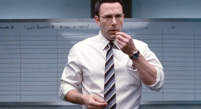 """Before he cracks heads, Christian Wolff (Ben Affleck) must crunch some numbers in """"The Accountant,"""" a 2016 action-drama from Warner Brothers."""