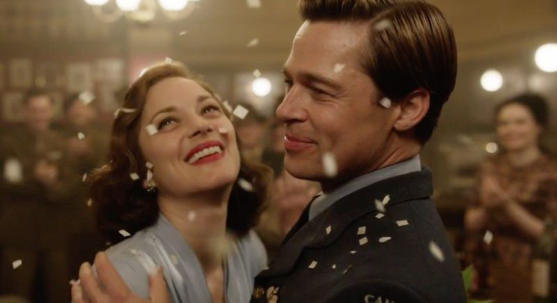 "Marion Cotillard and Brad Pitt star in ""Allied,"" a 2016 Paramount Pictures release directed by Robert Zemeckis."