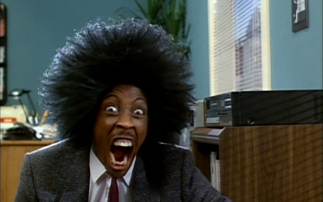"Arsenio Hall stars in the 1987 Universal Pictures sketch-comedy collection ""Amazon Women on the Moon."""