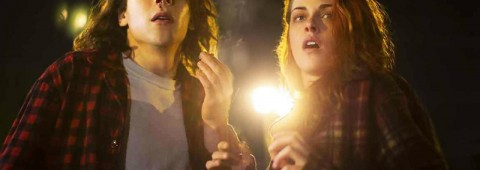 """Jesse Eisenberg and Kristen Stewart star in """"American Ultra,"""" a 2015 Lionsgate action-comedy directed by Nima Nourizadeh."""