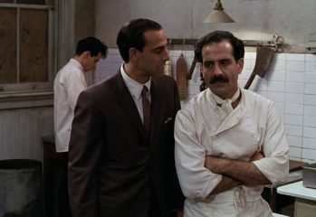 "Stanley Tucci (center) and Tony Shalhoub (right) play bickering brothers running a restaurant — while busboy Cristiano (Marc Anthony) toils away — in 1996's ""Big Night,"" a comedy drama from the Samuel Goldwyn Company."
