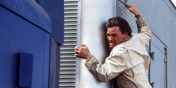 "Kurt Russell hangs on for dear life in ""Breakdown,"" a 1997 thriller from Paramount Pictures."