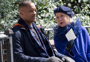 "Will Smith looks sad sitting next to Helen Mirren in ""Collateral Beauty,"" a 2016 drama directed by David Frankel and distributed by Warner Brothers / New Line Cinema."