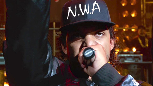 "O'Shea Jackson Jr. stars as his father, Ice Cube, in ""Straight Outta Compton,"" a Universal Pictures biopic about the rise and fall of gangsta rap pioneers N.W.A. directed by F. Gary Gray."
