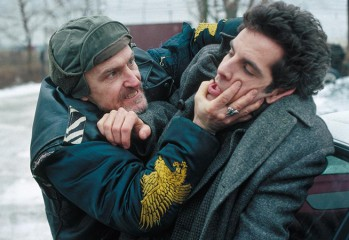 "David Patrick Kelly gets the upper hand on Ben Stiller in ""Flirting with Disaster,"" writer-director David O. Russell's 1996 screwball comedy for Miramax Films."