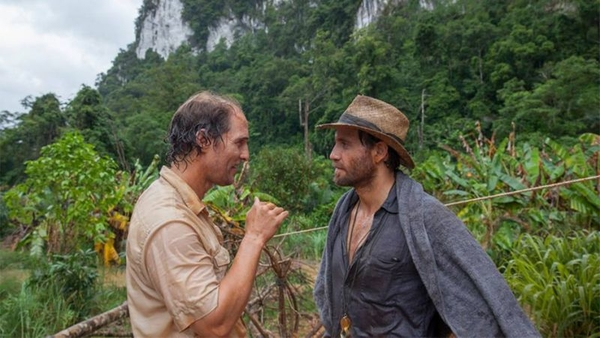 "Matthew McConaughey and Édgar Ramirez star as a prospector and geologist who strike it rich with Indonesian gold in ""Gold,"" a 2016 comedy-drama released by The Weinstein Company."