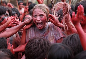 "Kara (Ignacia Allamand) leaves a bad taste in the mouths of some Amazonian locals in Eli Roth's ""The Green Inferno,"" a Universal Pictures release."