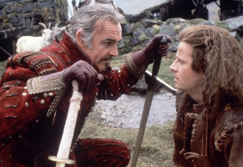 "From one Immortal to another, Juan Sánchez Villa-Lobos Ramírez (Sean Connery) mentors Connor MacLeod (Christopher Lambert) in ""Highlander,"" Russell Mulcahy's Cannon Films cult classic from 1986."