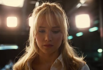 "Jennifer Lawrence stars as Joy Mangano, inventor of the Miracle Mop, in ""Joy,"" a 2015 Twentieth Century Fox biopic loosely based on her life and co-written and directed by David O. Russell."