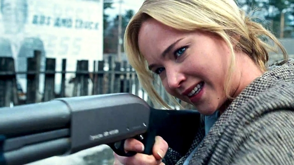 """Jennifer Lawrence stars as Joy Mangano, inventor of the Miracle Mop, in """"Joy,"""" a 2015 Twentieth Century Fox biopic loosely based on her life and co-written and directed by David O. Russell."""