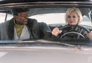 "Mitch Henessey (Samuel L. Jackson) and Charly Baltimore (Geena Davis) try to take down evil government rogues in ""The Long Kiss Goodnight,"" Renny Harlin's 1996 action-thriller distributed by New Line Cinema."