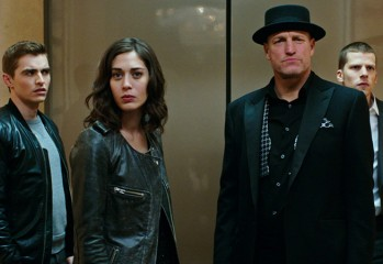 "From left, Dave Franco, Lizzy Caplan, Woody Harrelson and Jesse Eisenberg star in ""Now You See Me 2,"" a 2016 action-caper directed by Jon M. Chu and distributed by Summit Entertainment."