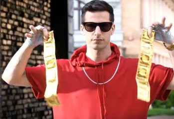 "Connor4Real (Andy Samberg) is ready for action in ""Popstar: Never Stop Never Stopping,"" a Universal comedy directed by Akiva Schaffer and Jorma Taccone."