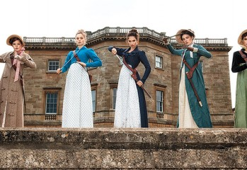"The Bennet sisters turn badass in ""Pride and Prejudice and Zombies,"" a 2016 Sony release adapted from the book by Jane Austen and Seth Grahame-Smith."