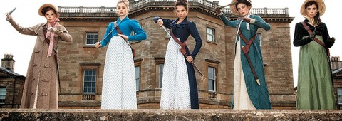 """The Bennet sisters turn badass in """"Pride and Prejudice and Zombies,"""" a 2016 Sony release adapted from the book by Jane Austen and Seth Grahame-Smith."""