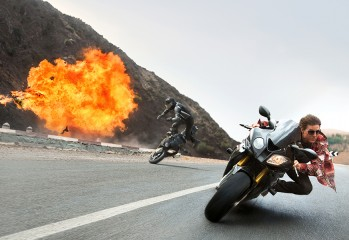 "Tom Cruise plays Ethan Hunt in 2015's ""Mission: Impossible — Rogue Nation,"" the fifth installment in the Paramount Pictures franchise."