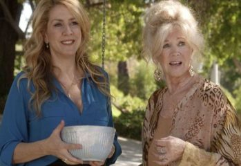"Joely Fisher (left) and Connie Stevens combat the sudden loss of cellular service on Thanksgiving in ""Search Engines,"" a 2016 comedy from writer-director Russell Brown."
