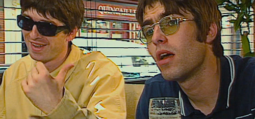 "Through reams of archival footage, A24's ""Oasis: Supersonic"" takes a look at the Britpop band fronted by brothers Noel (left) and Liam Gallagher."